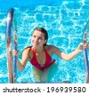 Fitness Innocence Pool  - stock photo