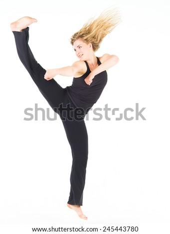 Fitness Joy Ballet Model  - stock photo
