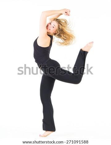 Fitness Joy Pretty Woman  - stock photo