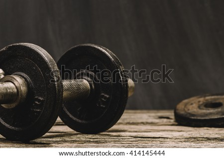 Fitness or body building concept image. Background for advertising of bodybuilding or fitness theme. - stock photo