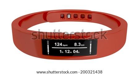 Fitness tracker isolated on white background - stock photo