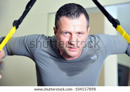 Fitness trainer in a gym.