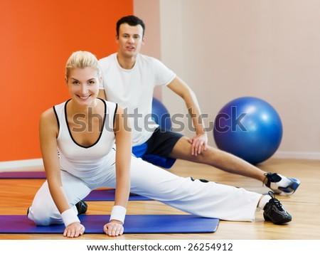Fitness training - stock photo