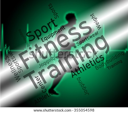 Fitness Training Meaning Aerobic Text And Words  - stock photo