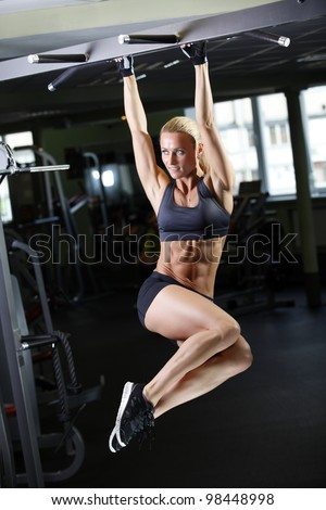 fitness woman - stock photo