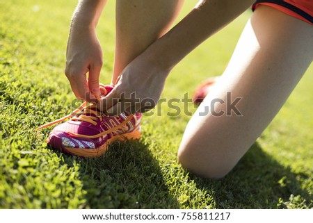 Fitness woman running, Training and healthy lifestyle