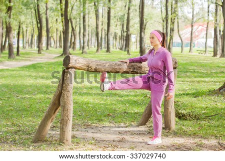 Fitness Young Woman ,Training Outdoor, Healthy lifestyle