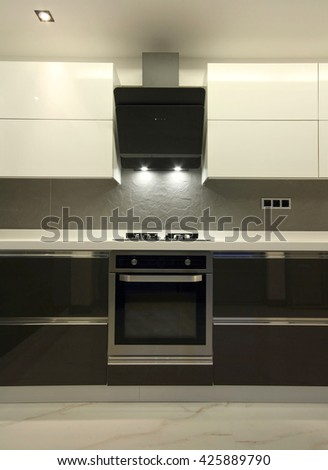 Fitted Kitchen - stock photo