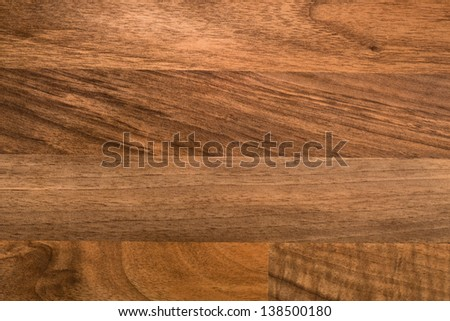 Fitted wooden work top surface. - stock photo