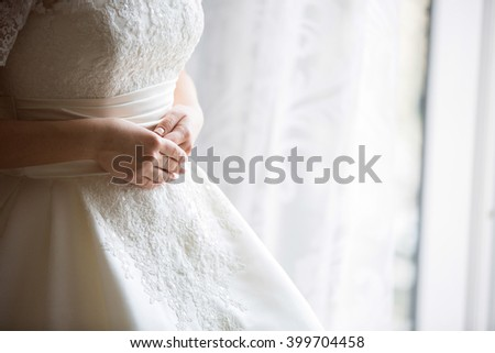 fitting wedding dress, sew a dress