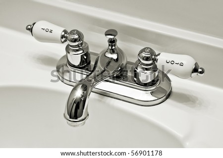 Fittings sink - stock photo