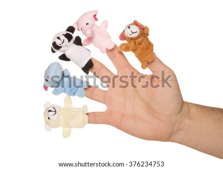 five animal finger puppets studio cutout