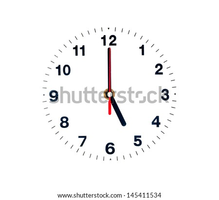 Five clock isolated