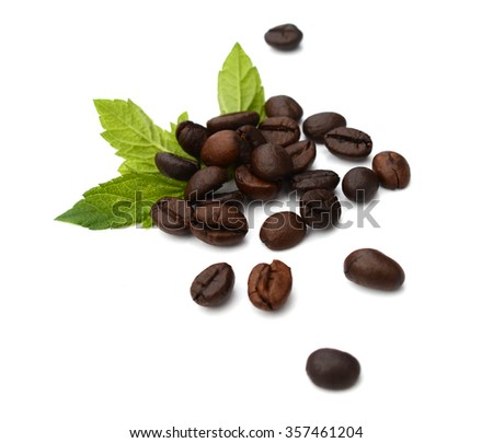 five coffee beans - stock photo