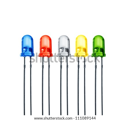 five diode - stock photo