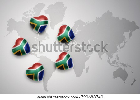 five hearts national flag south africaのイラスト素材 790688740