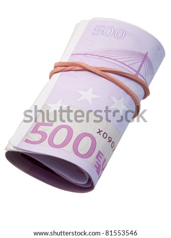 five-hundred banknotes - stock photo