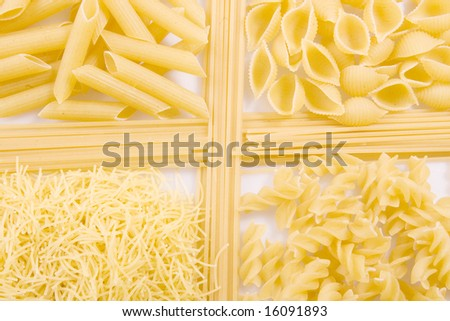 Five kind of macaroni