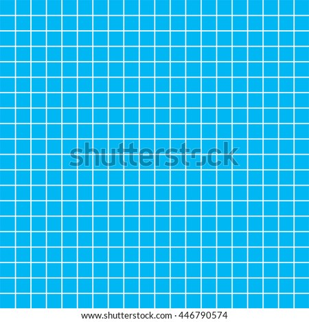 Five millimeters square white grid on blue, blueprint seamless pattern