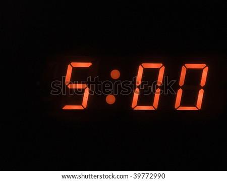 five o clock am - stock photo