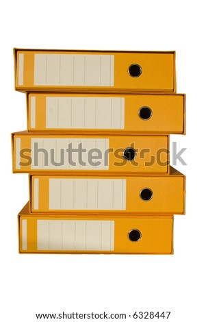 five office binder to organize the paper work - stock photo