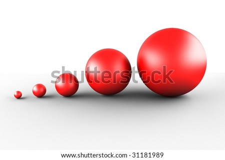 five red balls