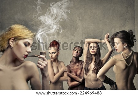 Five women  - stock photo
