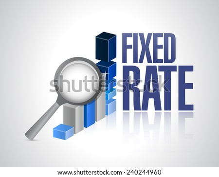 fixed rate business graph illustration design over a white background - stock photo