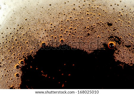 Fizzy soft drink with bubbles of gas - stock photo