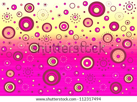 Fizzy whimsical background - stock photo