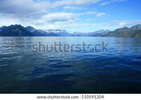 Fjord in Kenai Fjords National Park, near Seward, Alaska, USA - stock photo