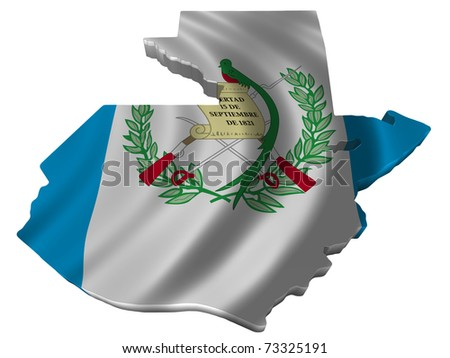 Flag and map of Guatemala - stock photo