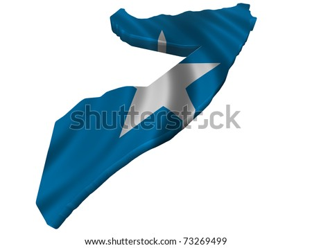 Flag and map of Somalia - stock photo