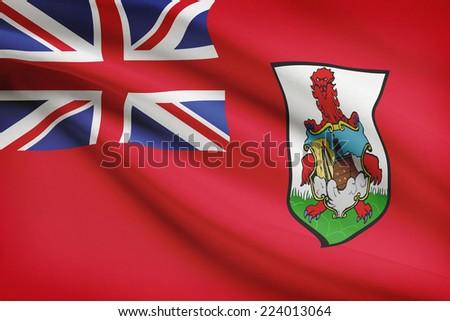 Flag blowing in the wind series - Bermuda - stock photo