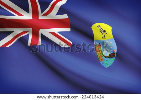 Flag blowing in the wind series - Saint Helena - stock photo
