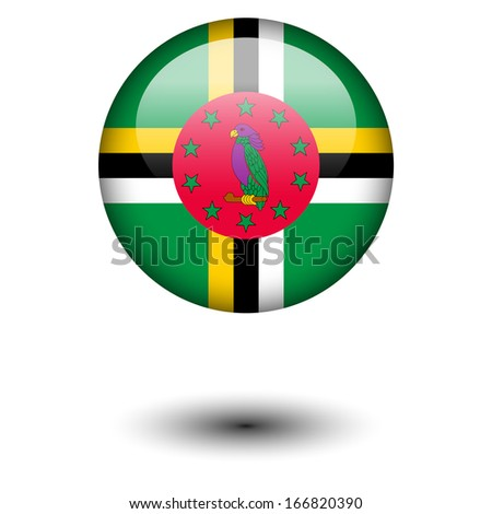 Flag button illustration - Dominica