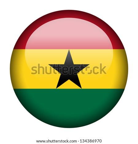 Flag button illustration - Nigeria - stock photo