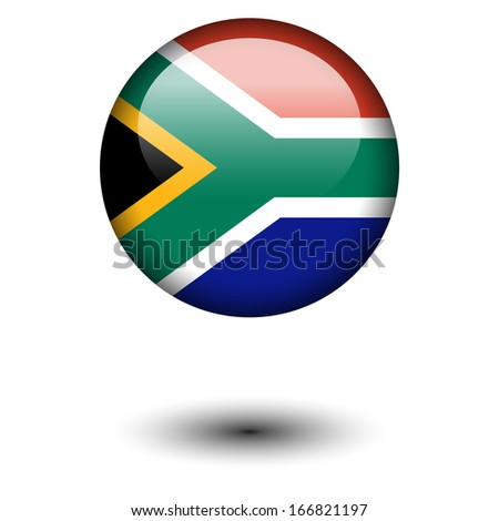 Flag button illustration - South Africa