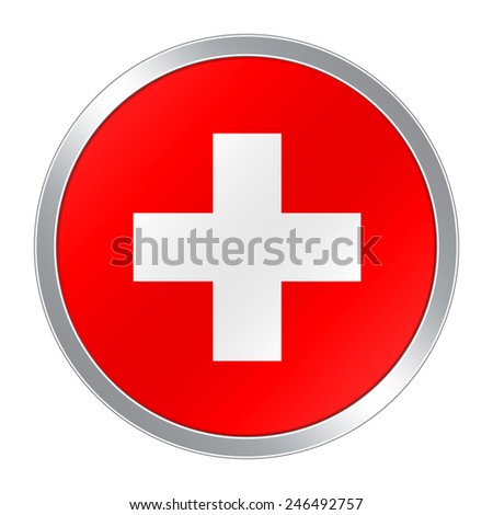 Flag button of Swiss