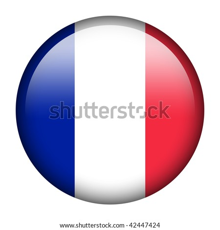 Flag button series of all sovereign countries - France - stock photo