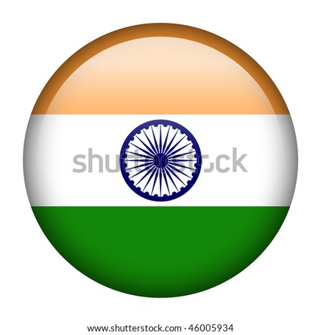 Flag button series of all sovereign countries - India