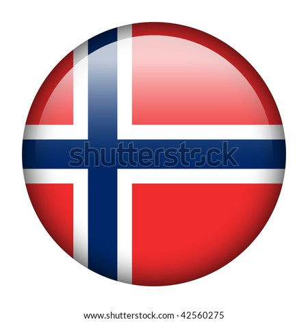 Flag button series of all sovereign countries - Norway - stock photo