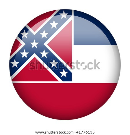 Flag button series of the states in USA - Mississippi - stock photo
