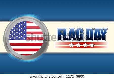 flag day sign illustration design over a blue background - stock photo