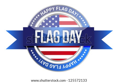 flag day. us seal and banner illustration design