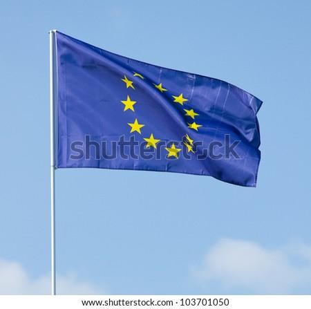 Flag  European Union - stock photo