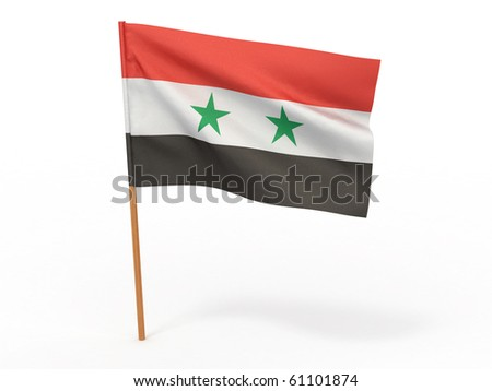 flag fluttering in the wind. Syria. 3d - stock photo