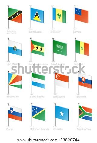Flag icon set (part 10) - stock photo