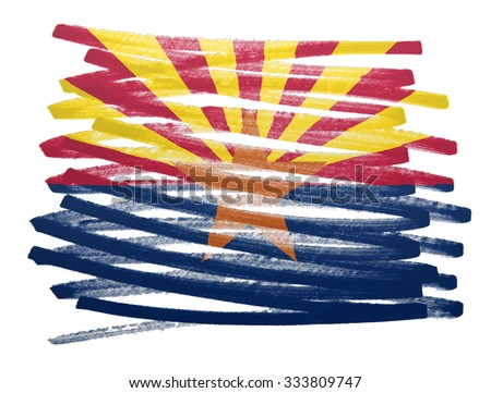 Flag illustration made with pen - Arizona