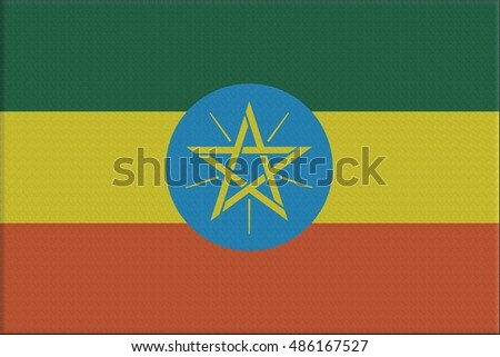 Flag illustration of the country of Ethiopia